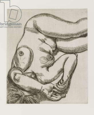 Woman on a Bed, 1992 (etching)