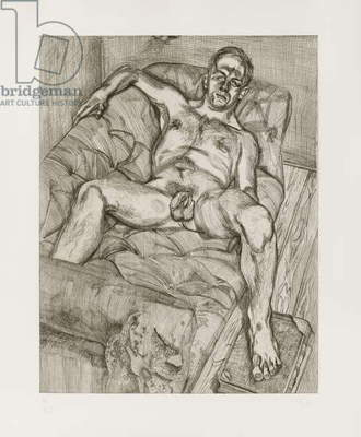 Man Posing, 1985 (etching)