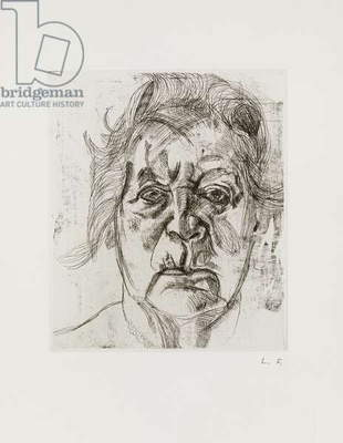 The Painter's Mother, 2nd version, 1982 (etching on paper)