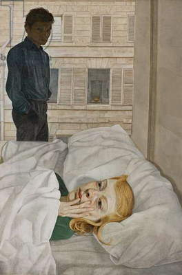 Hotel Bedroom, 1954 (oil on canvas)
