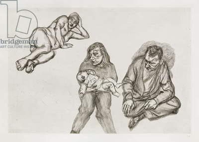 Four Figures, 1991 (etching)
