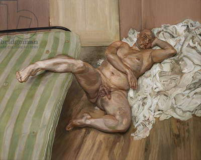 Nude with Leg Up (Leigh Bowery) 1992 (oil on canvas)