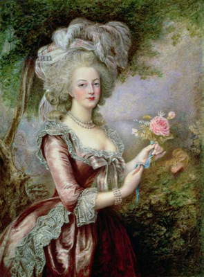Marie Antoinette (1755-93) after Vigee-Lebrun (w/c on ivory)