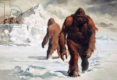 The Yeti, illustration from 'Monsters and Mythic Beasts', 1975 (colour litho)