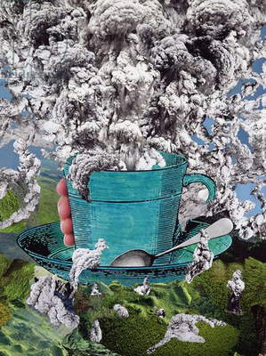 Morning Coffee, 1994 (collage)