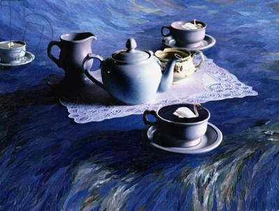 Tea Time with Gordy, 1998 (paper mosaic collage)