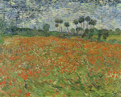 Field of Poppies, Auvers-sur-Oise, 1890 (oil on canvas)