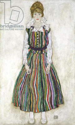 Portrait of Edith Schiele, the artist's wife, 1915