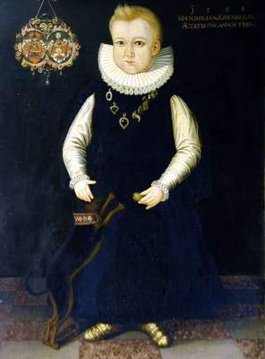 Portrait of Maximilian Eisenreich, aged 3, 1598 (oil on canvas)