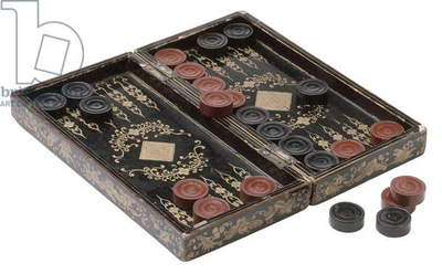 Backgammon set (wood)