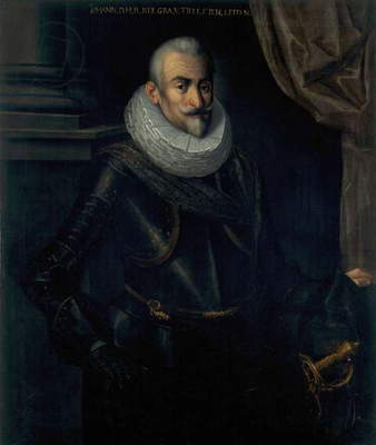 Portrait of Field Marshall Johannes Tserclaes, Count of Tilly, 1620-30 (oil on canvas)
