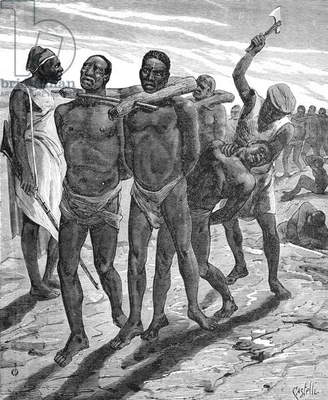 Round-up of Slaves for the Slave Trade Africa, 1878 (engraving)