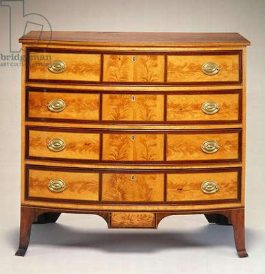Chest of drawers, from Portsmouth, New Hampshire, 1805-15 (mahogany, birch & white pine)