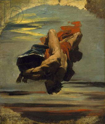 Prometheus Falling from the Rock (oil on canvas)