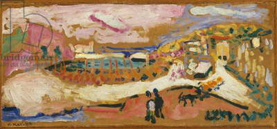 View of Collioure, 1905 (oil on paper, mounted on board)