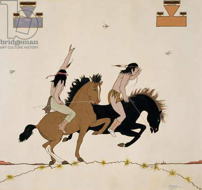 Two Riders, 1938 (tempera on paper)