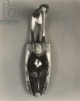 Mask Surmounted by Waterfowl, 1935 (gelatin silver print)