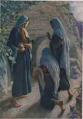 The Women at the Sepulchre, illustration from 'Women of the Bible', published by The Religious Tract Society, 1927 (colour litho)