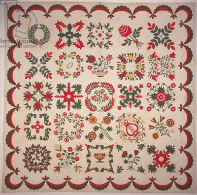 Eli Lilly Family Album Quilt, 1847 (textile)