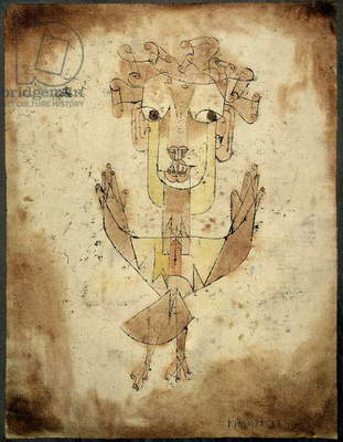 Angelus Novus, 1920 (Indian ink, colour chalk & brown wash on paper)
