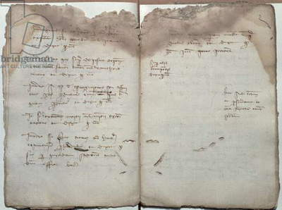 Mercantile documents, letter of acceptance of change of letters between merchants of Barcelona and Florence, 1411