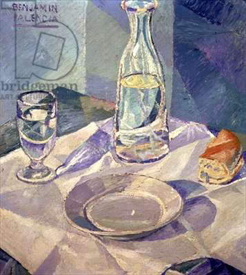 Still Life in Blue (oil on canvas)