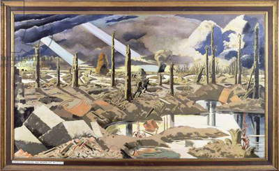 The Menin Road, 1919 (oil on canvas)