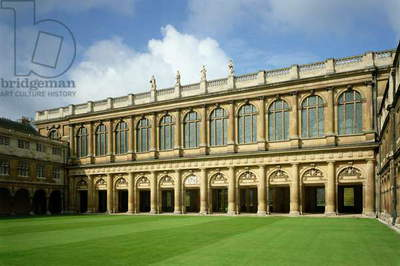 View of the Great Court of the Wren Library, Trinity College, Cambridge (photo)