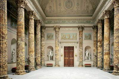Interior of the Marble Hall, Kedleston Hall, Derbyshire (photo)