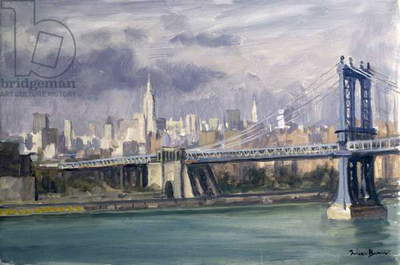 Manhattan Bridge, New York, 1996 (oil on canvas)