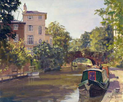 Regent's Park Canal (oil on canvas)