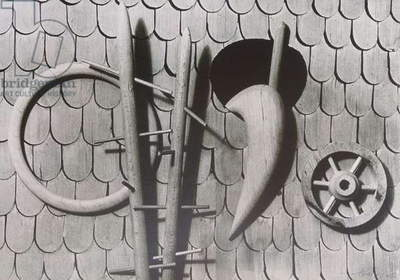 Stable Wall, 1936 (silverprint)