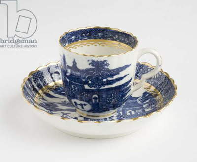 Coffee cup and saucer, c.1780 (porcelain)