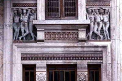 Detail from the Facade of the Palazzo delle Terme Berzieri, 1923 (photo)