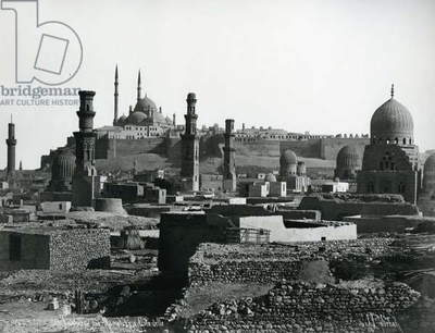 Citadel and Tombs of the Caliphs, Cairo, c.1880 (b/w photo)