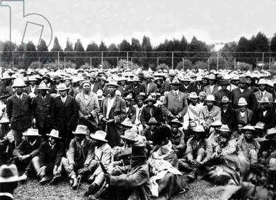 South African Mine Employees, c.1900 (b/w photo)