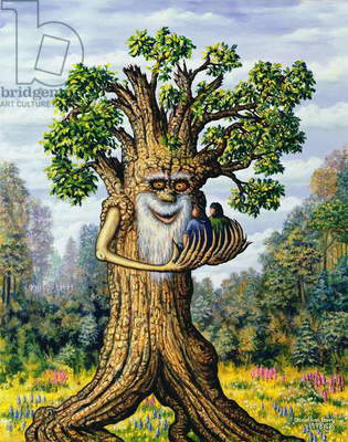 Treebeard, 1998 (oil on canvas)