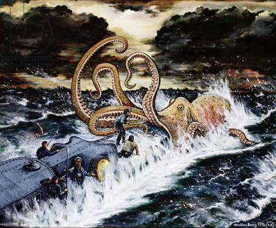 20,000 Leagues Under the Sea, 1996 (oil on canvas)