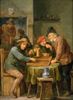 The Game of Backgammon, 1670 (oil on panel)
