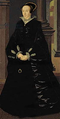 Portrait of a Lady in Black, probably Lady Margaret Arundell, c.1553 (oil on panel)