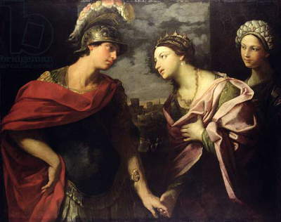 Aeneas takes leave of Dido, c.1630 (oil on canvas)