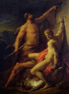 Hercules Freeing Prometheus, 1817 (oil on canvas)
