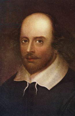 Portrait of William Shakespeare (1564-1616) (colour litho)