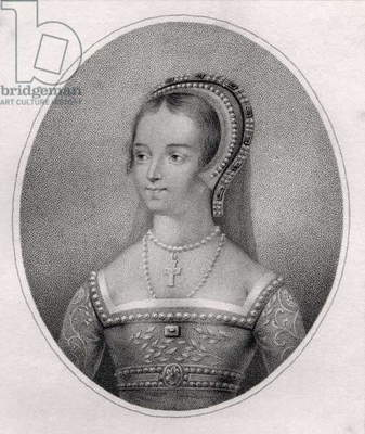 Catherine Parr, engraved by Bocquet, from 'A Catalogue of the Royal and Noble Authors', published 1806 (litho)