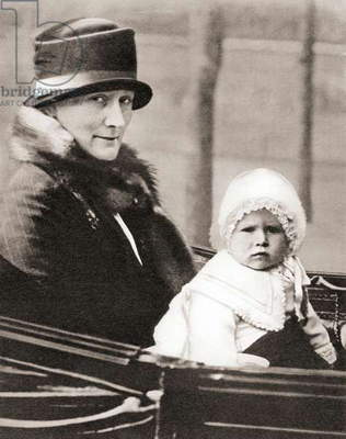 Princess Elizabeth of York, future Queen Elizabeth II,aged 2, from The Coronation Book of King George VI and Queen Elizabeth, pub.1937