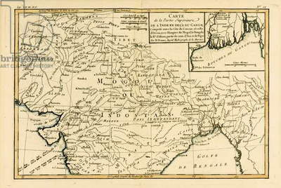 Northern India, from 'Atlas de Toutes les Parties Connues du Globe Terrestre' by Guillaume Raynal (1713-96), published Geneva, 1780 (coloured engraving)