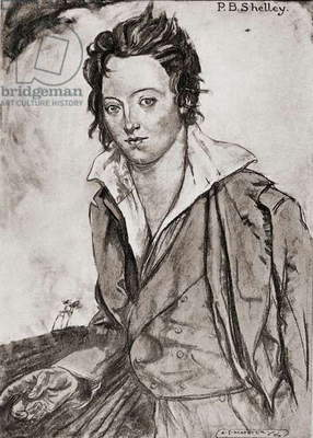 Percy Bysshe Shelley, 1792-1822.  English Romantic poet. 