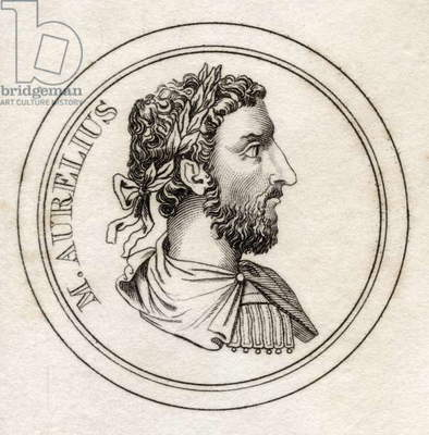 Marcus Aurelius, from 'Crabb's Historical Dictionary', published 1825 (litho)