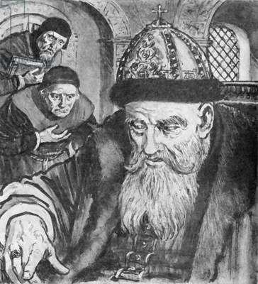 Ivan The Terrible in old age (litho)