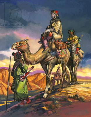 Marco Polo Crosses the Persian Deserts, from 'The Travels of Marco Polo', 1964 (gouache on paper)
